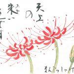 2012年9月の絵手紙エッセー『天上の花』