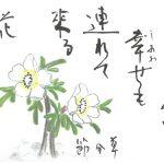 2016年2月の絵手紙エッセー『春と一緒に』
